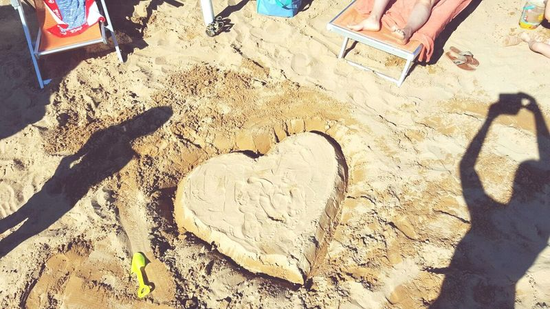 Vacations Sand Beach High Angle View Low Section FootPrint Tourism Travel Destinations Person Outdoors City Life Person Day Summer Shore Heart ❤ 40years First Eyeem Photo