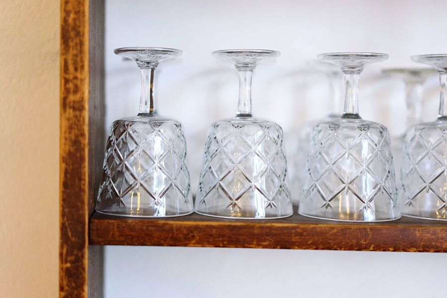 Wine glasses Wine Glasses Indoors  No People Shelf Close-up Day Freshness