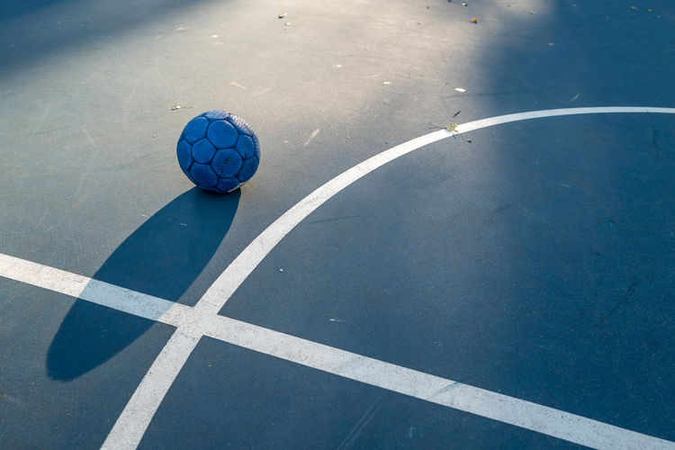 High angle view of ball at sports court