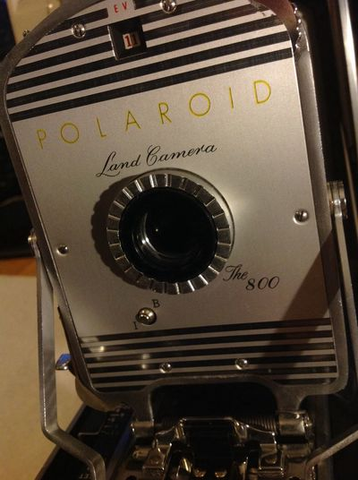 Polaroid Land Camera, The 800 being refurbished and being slightly modified to take paper negatives!