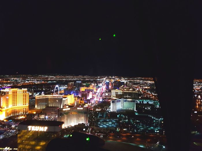 Night Illuminated Cityscape Nightlife City Travel Destinations Urban Skyline Las Vegas Las Vegas At Night Sunscape Helicopter
