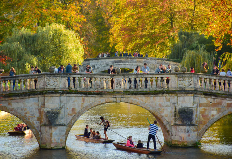 People relaxing in river