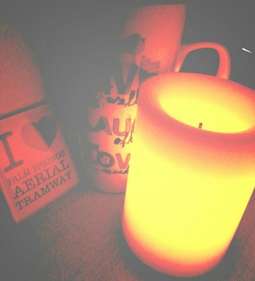 Live, Love, Laugh LED Candle Romantic❤ Good night world! 😪😪