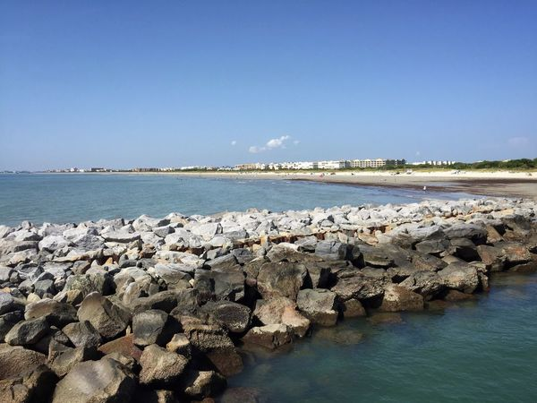 Jetty & beach at low tide Jetty Park Port Canaveral Canaveral Florida Rock Jetty Florida Beach