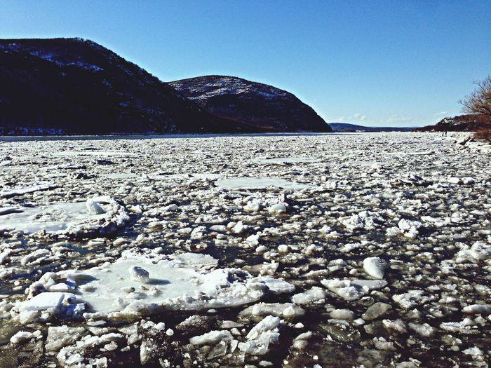 Hudson River Frozen Beautiful Ice