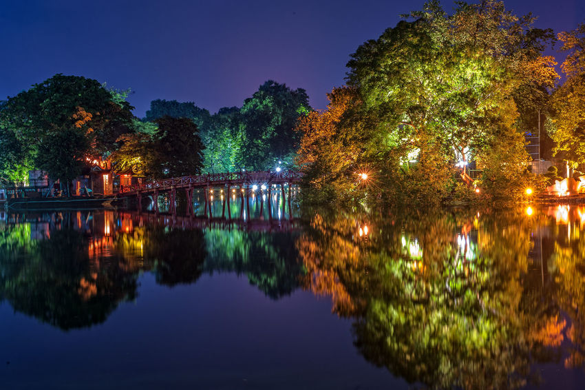 Hoan Kiem Lake Night Hoan Kiem Lake Night, Hà Nội, Việt Nam Architecture Beauty In Nature Building Exterior Built Structure Clear Sky Illuminated Nature Night No People Outdoors Reflection River Sky Tree Water Waterfront EyeEmNewHere Perspectives On Nature Be. Ready. Stories From The City The Architect - 2018 EyeEm Awards