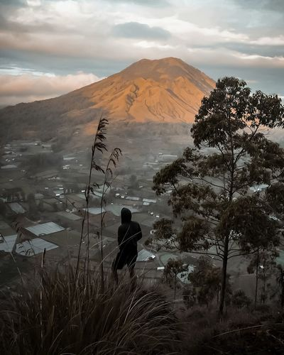 The Pinggan Village Travel Wanderlust Mountain Sand Dune Sand Silhouette Shadow Tree Sky Landscape Cloud - Sky Volcanic Landscape Volcanic Activity Volcanic Rock Erupting Active Volcano Volcano Hiker It's About The Journey