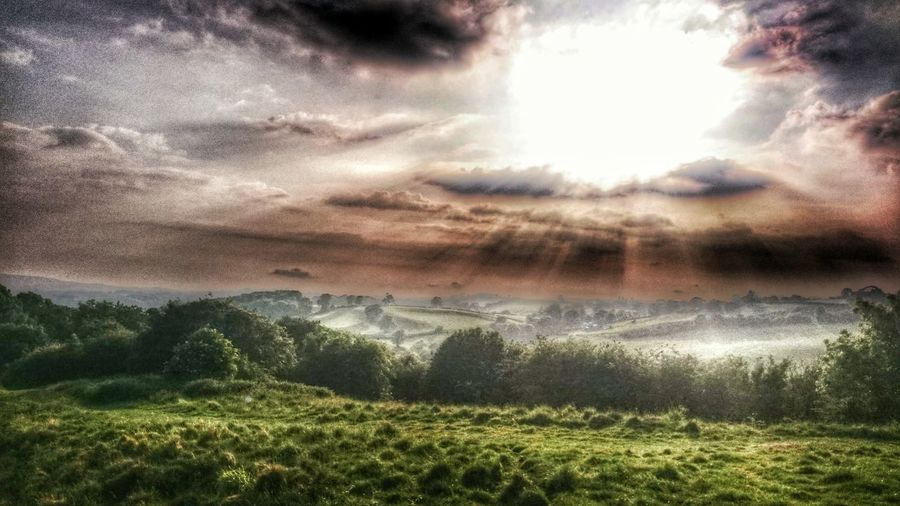 The View From Here Hostorical Place Soft Focus Editing Hdr Edit Cloud Porn Sunset #sun #clouds #skylovers #sky #nature #beautifulinnature #naturalbeauty Photography Landscape [a:66746] Sun Beams Sun Beam From Cloud Sun Beam Valley View Wales You Beauty Welsh Countryside Walesiswonderful Dolforwyn Castle