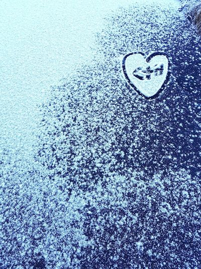 lovers Snow Ice Heart Shape Winter Lovers Love Sign Symbol Backgrounds Full Frame Textured  Pattern Close-up Drawn Heart Shape I Love You Valentine Day - Holiday Drawing