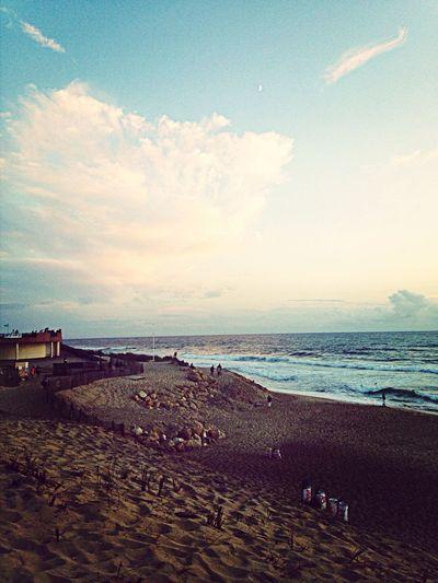 Sunset Sea Sand Enjoying Life