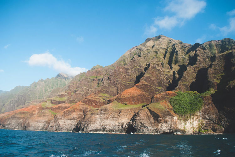 Hawaii Sunset Hawaii Napali Coast Sky Water Mountain Beauty In Nature Scenics - Nature Tranquil Scene Tranquility Waterfront Cloud - Sky No People Nature Mountain Range Day Non-urban Scene Rock Idyllic Outdoors Sea Remote