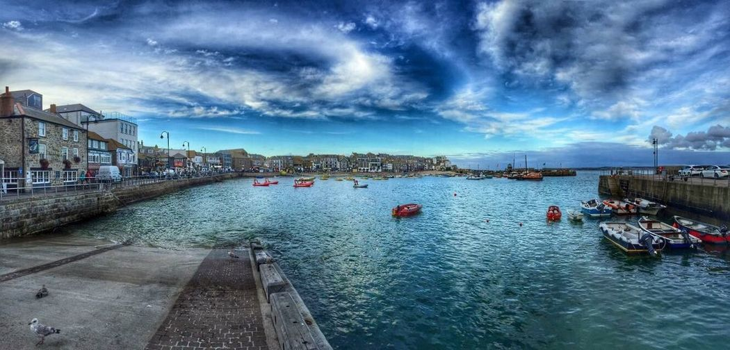 Cornwall St. Ives St. Ives Cornwall Harbour Cloud - Sky Waterfront Harbor