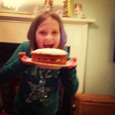 Katie bakes her first ever cake with no help whatsoever and even buying caster sugar from her pocket money...