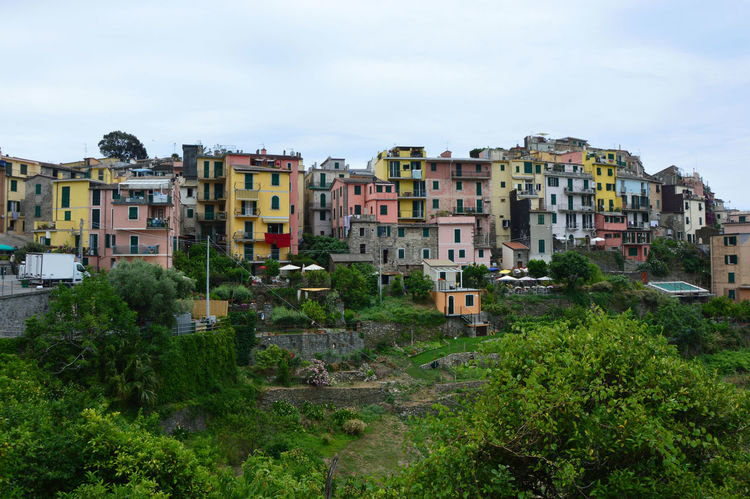 Corniglia, Italy Cinque Terre, Cinque Terre Cliffs EyeEm Best Shots Italian Landscape Italian Photos Old Town Sky And Clouds Architecture Building Exterior Built Structure Cinque Terre Cityscape Cinque Terre Italy Cinque Terre Liguria Cliffs And Water Colorful Houses Corniglia Day Europe Forest Historic Buildings  Italian View Italy Liguria Outdoors