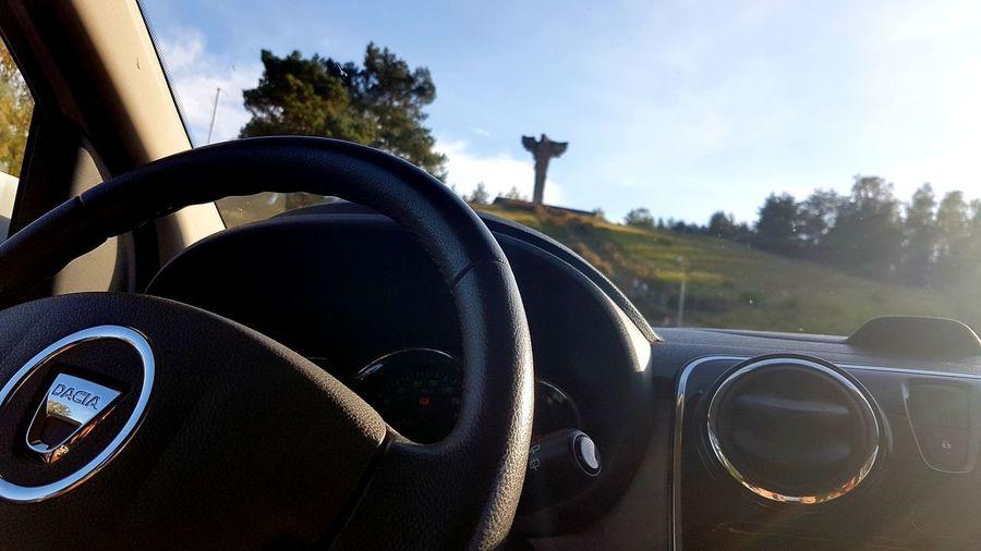 Tree Car Dashboard Sky Close-up