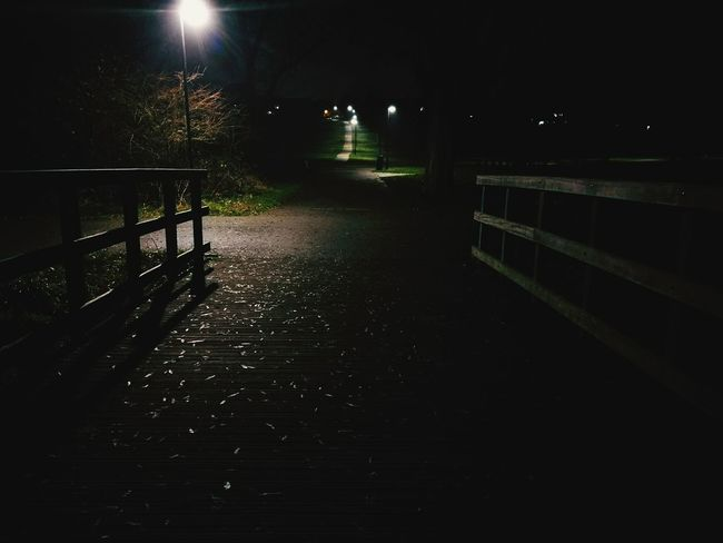 Night No People Nature Creepy Bridge
