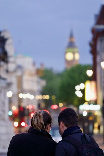 Rear View Of Couple In London