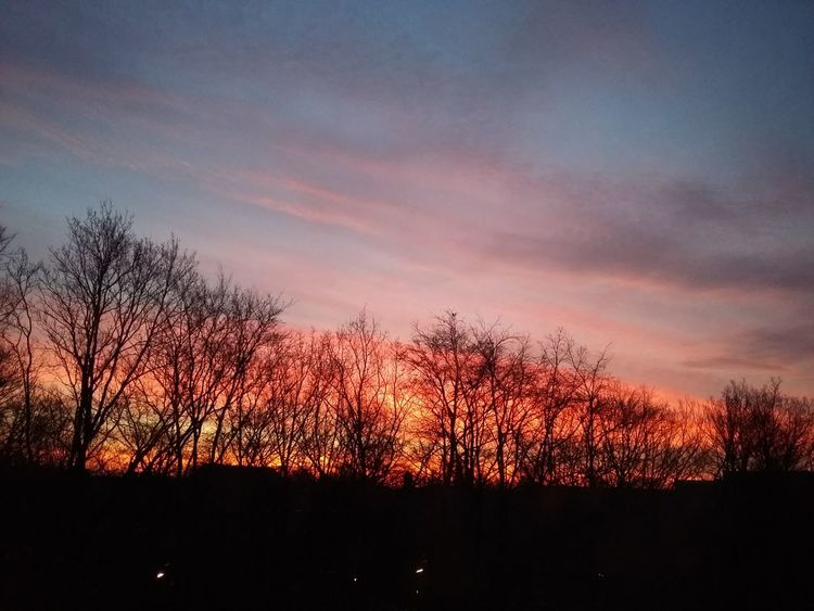 Sunrise in Hamburg. · Germany Barmbek Red Sunrise Here Comes The Sun Morning Good Morning Silhouette Black And Red