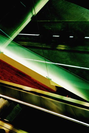 Snapshot Interesting City Life Strange EyeEm Gallery Snapshots Of Life Art Architecture Phsycedelic Lights Escalator Reflection Reflections Reflection_collection Mirror Green Color
