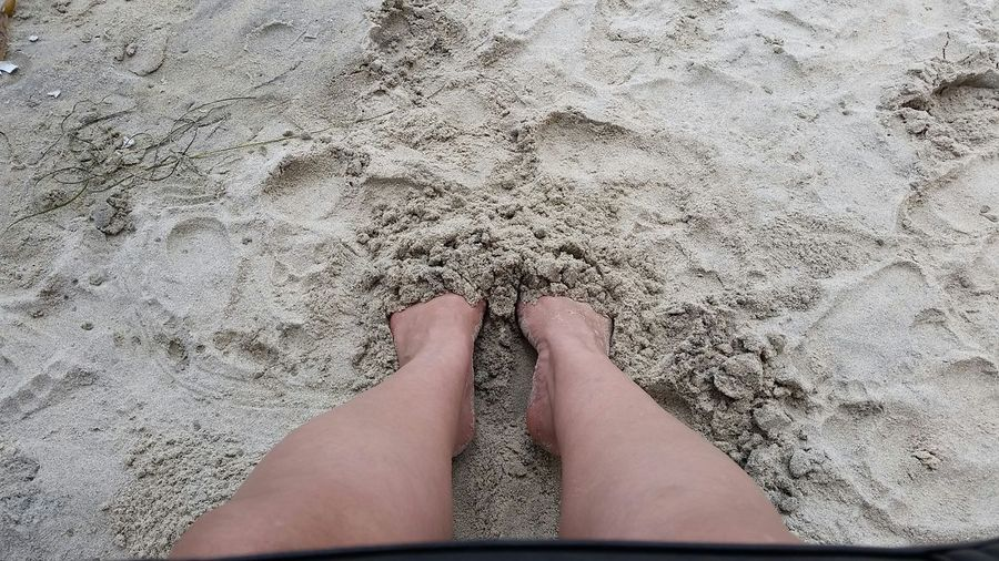 Relaxing Beach Relaxing Feet On The Ground