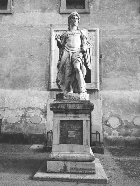 St. Michael Angel Castel Sant'Angelo Black And White Photography Rome ArtWork Masterpiece