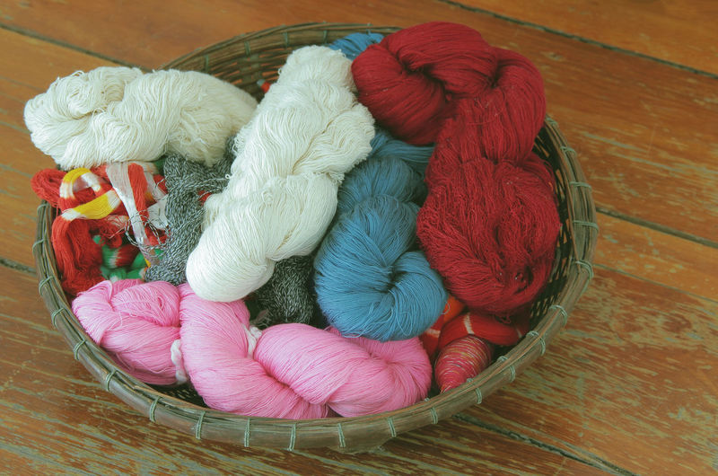silk Basket Threads String Cord Hank Packthread Silk