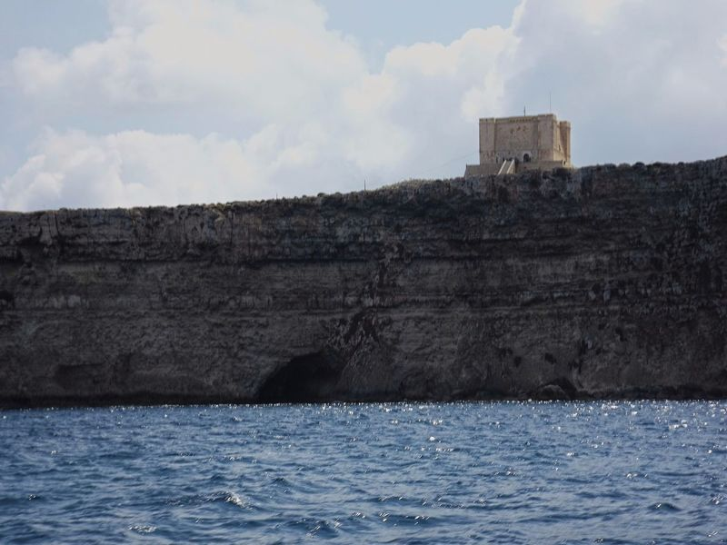 Malta Mediterranean  Rock Formation Saint Mary's Tower Ancient Civilization Architecture Building Exterior Built Structure Castle Cloud - Sky Comino Day Fortress From A Boat History Nature No People Old Ruin Outdoors Sea Sea And Sky Sky Watchtower Water Waterfront