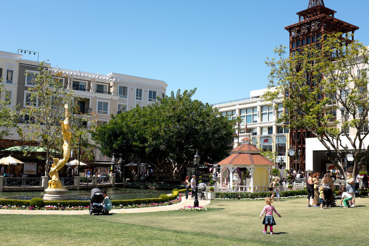 Architecture Building Exterior California Child City Clear Sky Day La Los Angeles, California Mother Outdoors Park People Stroller Tree USA