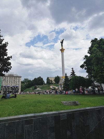 Kiev Lifestyles Beauty History Architecture Memorial Statue Cloud - Sky Architecture Cross Sculpture Tree Sky Outdoors City
