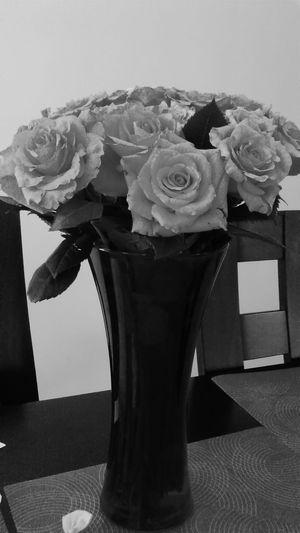 Kwiaty Roze Blackandwhite