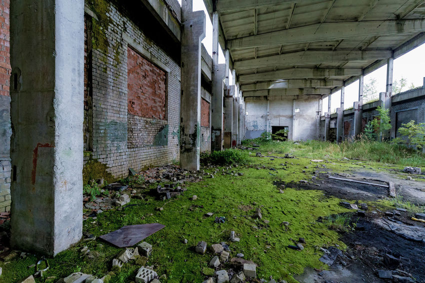 Abandoned Architecture Bad Condition Building Exterior Built Structure Damaged Day Destruction Deterioration Dirty Grass Indoors  Messy No People Obsolete Old Ruin Rotting Rubble Run-down Weathered