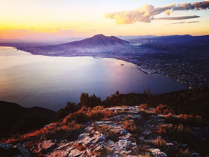 Sunset Mountain Sky Tranquility Naples Paradise First Eyeem Photo