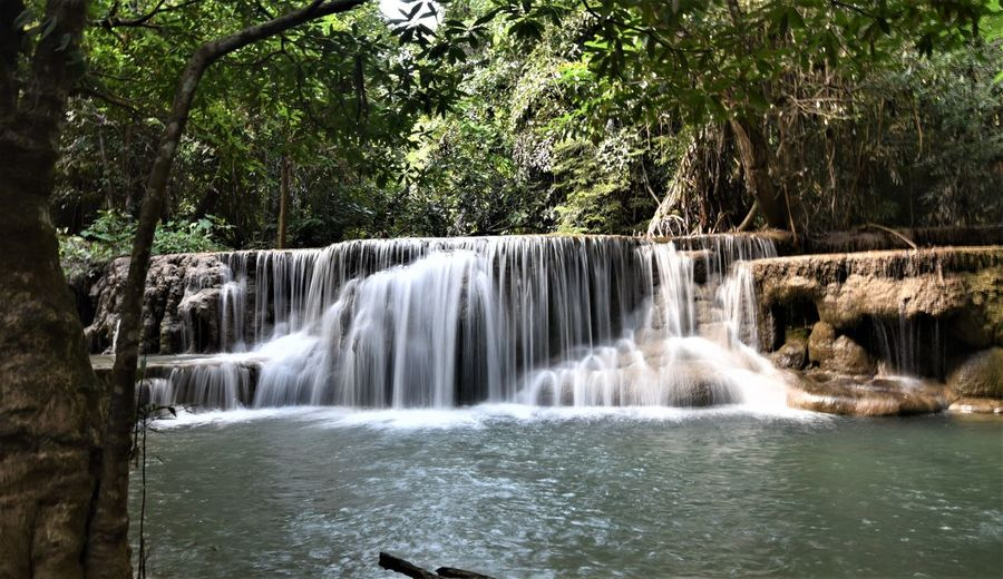 Thailand🇹🇭 Nature_collection Landscape_collection EyeEmNatureLover Tree Water Waterfall Motion Forest Long Exposure Flowing Water Stream - Flowing Water Power In Nature Falling Water Countryside Natural Landmark Lightning