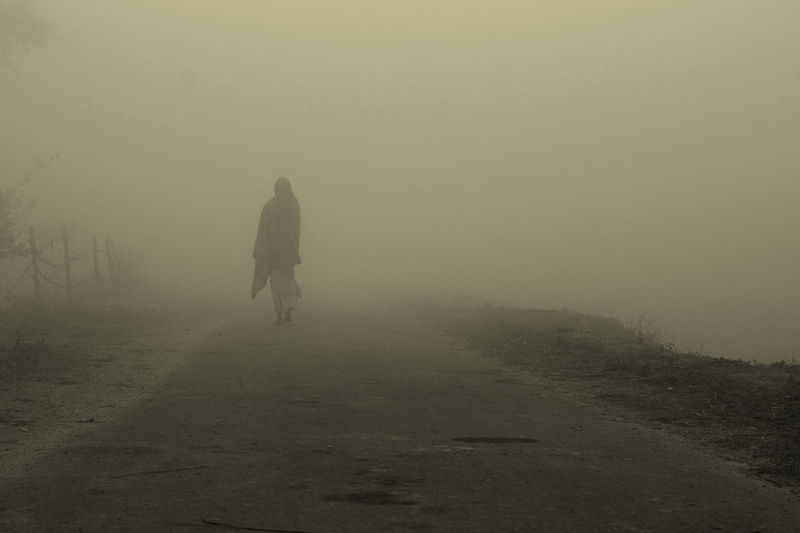 Alone Time Cold Temperature Day Foggy Morning Nature People Walking Weather Winter Winters