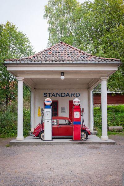 Old school petrol station at the Norse Folk museum in Oslo. Car Gasstation Oslo Norway Museum Fujifilm_xseries Fuji X100s Europe Scandinavia Traveling