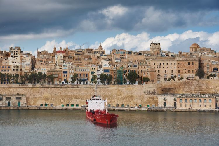 Grand Harbour, Valletta, Malta Malta Valletta Grand Harbour Sea Harbor Water Boat Ship Cloud - Sky Urban Skyline Urban Landscape No People Architecture Historic Histrorical Building Building Exterior Nautical Vessel Waterfront Cityscape Mediterranean  Landmark Horizon Over Water
