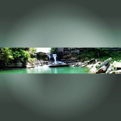 PANAROMA Insta_exploring Instatennessee USA Tennessee STATE_PARK CUMMINS _ FALLS Nature Trees Greenery Bluesky CLOUDSPACE Waterfall