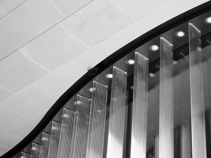 Bloomberg Building Detail Black & White Black & White Photography Bloomberg Building Architecture Black And White Black And White Photography Building Built Structure Ceiling Day Glass - Material Illuminated Low Angle View Modern No People Pattern Reflection Transparent Window
