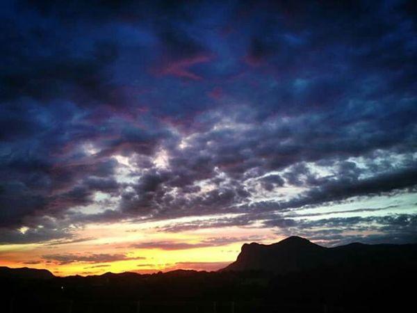 Monte Gozzi Cloudy Sky Original Sunset Nature Photography