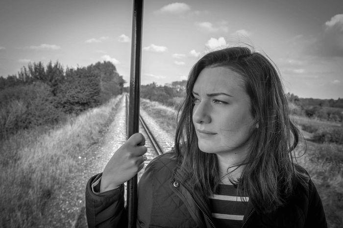 With My Love Cherie Myrtilles Week End Couple Train Stream Train Train à Vapeur Picardie Saint Valery Sur Somme Noir Et Blanc Blackandwhite