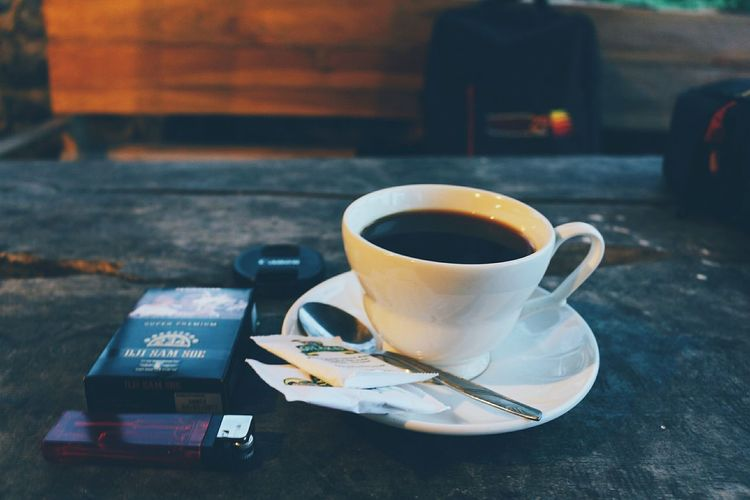 At that time Blackcoffee Yogyakarta INDONESIA Coffee - Drink Coffee And Cigarettes EyeEm Selects Drink Coffee Break Coffee - Drink Heat - Temperature Teabag Close-up Black Coffee Coffee Hot Drink