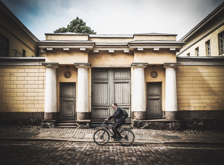 Helsinki Finland Getolympus Olympus OlympusPEN Olympus倶楽部 Olympus Epl7 Sightseeing Travel Photography Traveling People Watching People Bycicling Bike In Front Of Me VSCO City Doors With Stories Building Architecture Travel Storytelling Old Buildings Streetphotography Fine Art Photography