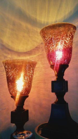 Shiny Gold Colored Indoors  Amber Light Amber Speckled Lighting Vintage Lamp Lamps Tagsfordays