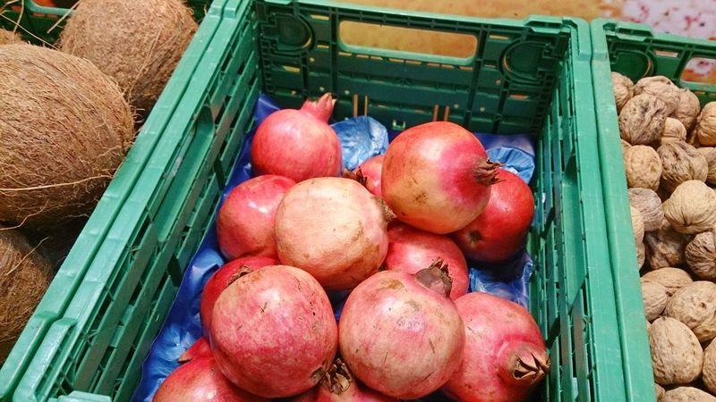 Pomegranate. Organic Food Shopping Sonyxperiaz1 Fruit