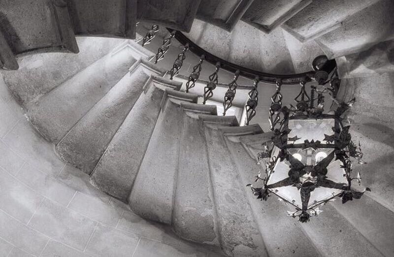 Duino Castle High Angle View In A Row Staircase Indoors  Architecture Built Structure Spiral Staircase No People Day