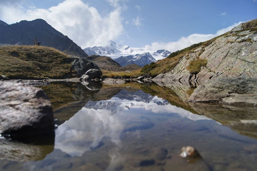 Alpen Alpine Alto Adige Reflection Südtirol Alps Beauty In Nature Day Italy Lake Landscape Martelltal Mountain Mountain Range Nature No People Outdoors Reflection Scenics Sky Snow Tranquil Scene Tranquility Water Waterfront