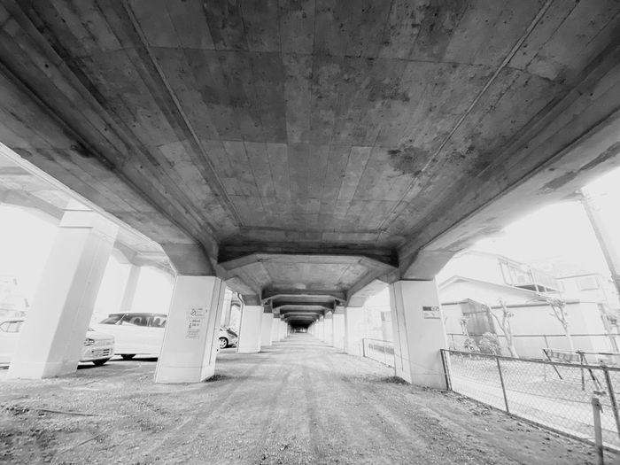 Interior of empty bridge