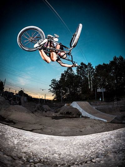 RedBull youngster Paul Thoelen playing in a drained Riverbed 🏄🏼 Bmx  Project Riverbed Riverbedtrail Canon Photography Flash Photography Ljubljana Action Capturing Movement