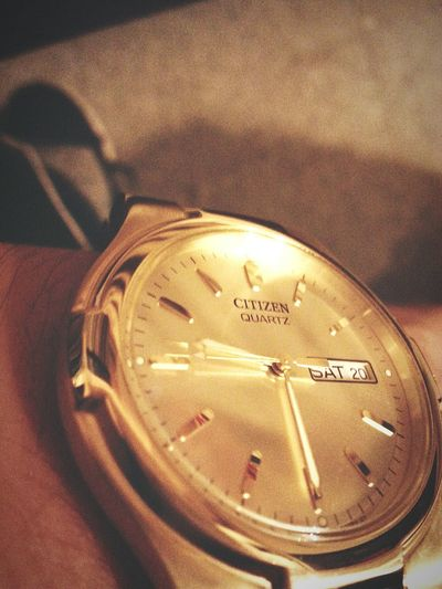 Watch The Clock Citizen Citizenwatch Gold Watch Time