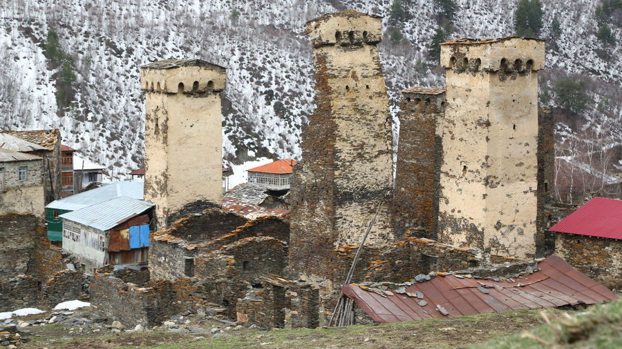 Georgia Mestia/town In Svaneti/Georgia Architecture Built Structure Day Building Exterior Human Body Part Human Hand Outdoors Nature History Old Abandoned Building Hand Weathered Damaged One Person The Past Body Part Deterioration Ruined